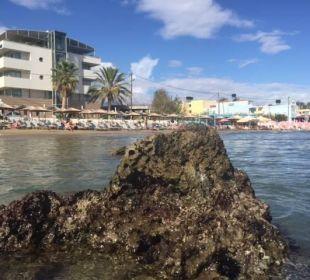 Aus dem Wasser auf das Hotel Hotel Corissia Princess