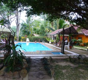 Blick vom Bungalow Hotel Na Thai Resort