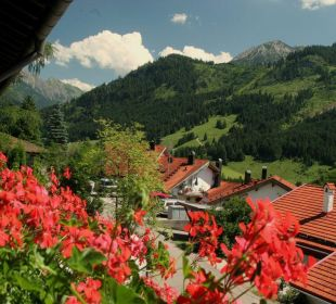 Ausblick vom Balkon Schwandenhof Ferienwohnungen