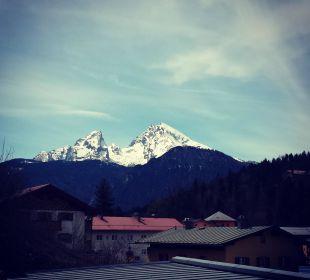 Ausblick von unserem Zimmer Alpenhotel Fischer