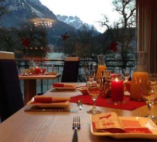 Unser Frühstücksraum mit Panoramablick Bauernhof Lindenhof