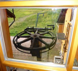 Blick aus dem Zimmer zum Lift Berggasthof Hochkopf-Stub