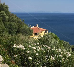 Blick vom Balkon Marilena Sea View Hotel