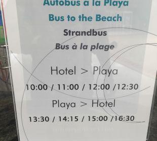 Beach Bus Plan Dunas Suites&Villas Resort