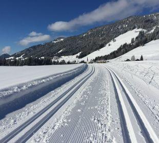 Die Loipen vor der Tür! Hubertus Alpin Lodge & Spa