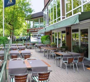 "Terrasse - Restaurant ""del bosco"" Ringhotel Munte am Stadtwald"