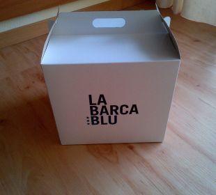 Frühstück in der Box La Barca Blu  Hotel