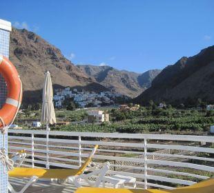 Blick ins Tal vom Pool auf der Dachterrasse Hotel Gran Rey