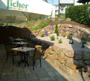 Mediterane Gartenterrasse Hotel Landhaus Silbertanne