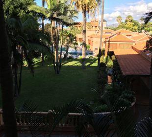 Ausblick Zimmer 152 auf Spa-Bereich Hotel Botanico