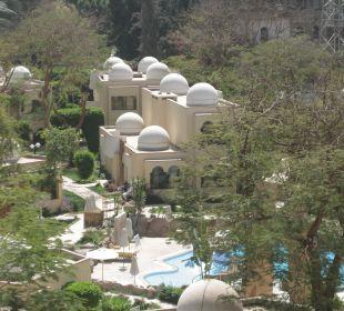 Blick auf Bungalows Achti Resort Luxor