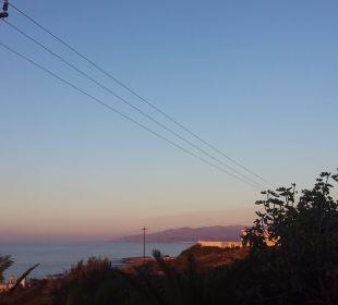 Sonnenaufgang von der Restaurantterrasse! Hotel King Minos Palace