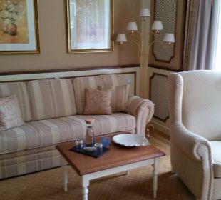 Gemütliche Sitzgelegenheit Suite Deluxe Hotel Schwarzenstein