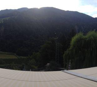 Panorama Blick vom Balkon auf den Hirzer, Zimmer 2 Hotel Alpenhof Passeiertal