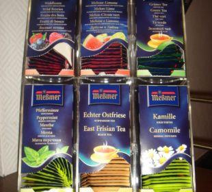 Leckere Tee-Auswahl Hotel Sonne