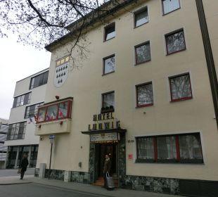 Eingang zum Hotel Hotel Ludwig