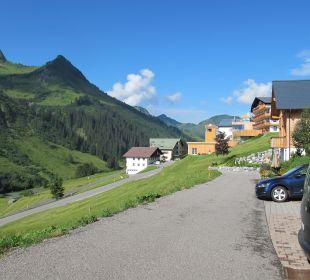 Ausblick Ferienwohnung Damülser Holzhus