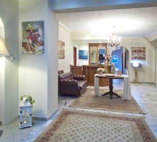 Entrance , lobby  Hotel Alkyonis