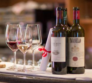 Auf guten Wein wird Wert gelegt! Piccolo Hotel Obereggen