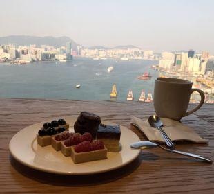Aussicht von der Clubetage - unbedingt buchen Renaissance Harbour View Hotel Hong Kong