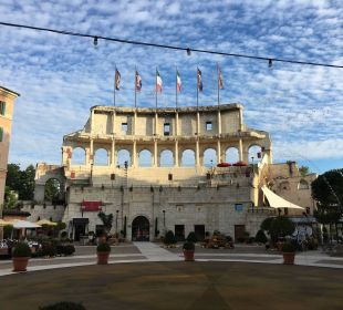 Ein Teil des Colosseums nachgebaut Hotel Colosseo Europa-Park