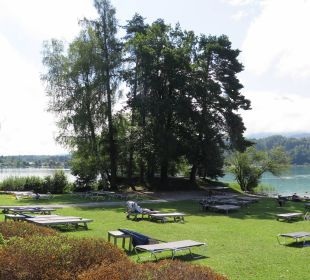 Liegewiese/Stand Inselhotel Faakersee