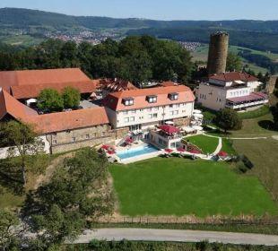 Luftaufnahme  Burghotel Staufeneck