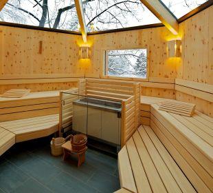 Baumhaus Sauna - innen  Hotel Die Post