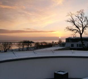 Sonnenaufgang (Blick aus der Junior-Suite) Strandhotel Ostseeblick