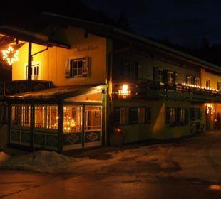 Von der Strasse bei Nacht Gästehaus Martinsklause