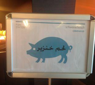 """Schweinecke"" Hotel Le Meridien Al Aqah Beach Resort"