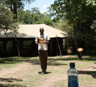 Nach dem Game Drive ein leckeres Tusker! Mara Bush Camp