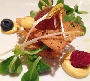 Nicht nur für`s Auge:Thunfischsandwich Hotel Quelle Nature Spa Resort
