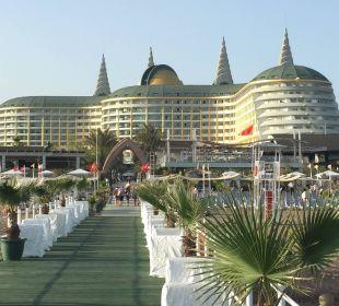 Sicht vom Steg Hotel Delphin Imperial