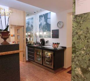 Minibar an der Rezeption Hotel Ludwig
