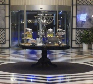 Willkommensgruß in der Lobby Hotel Delphin Imperial