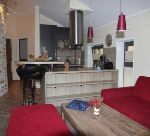 Blick zur Küche Apartments Ferienparadies Alpenglühn