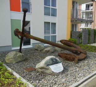 Nostalgischer Anker eines untergegangenen Schiffes Aparthotel Duhner Strandhus