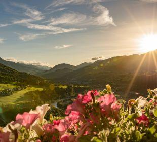 Sonnenuntergang vom Zimmer 320 Aktivhotel Alpendorf