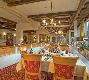 Tisch im Restaurant Alpenhotel Fischer