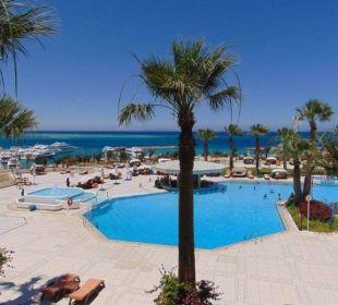 Unser Ausblick aus Zimmer 331 Hotel Hilton Hurghada Plaza