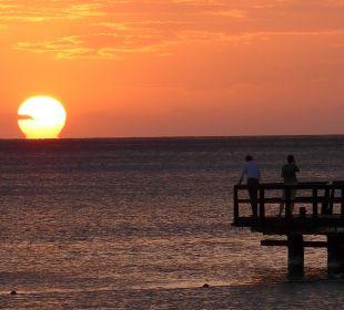 Abendsonne mit Blick auf den Steg Dreams La Romana Resort & Spa