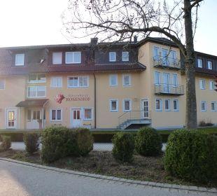 Vorderansicht des Gasthofes Gästehaus Rosenhof