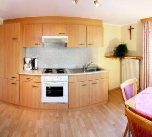 Küche in Wohnung E Landhotel Stemp