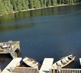 Blick vom Balkon auf den See Berghotel Mummelsee