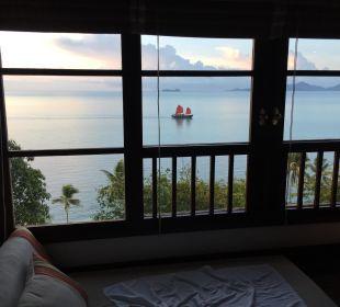 Blick aufs Meer aus der Villa Belmond Napasai