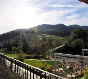 Romantische Aussicht von der Seminar-Terrasse!  Romantik Hotel Hornberg
