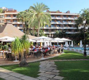 Auf die Terrasse Hotel Botanico