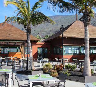 Kleines Restaurant unten, draußen speisen La Palma Princess