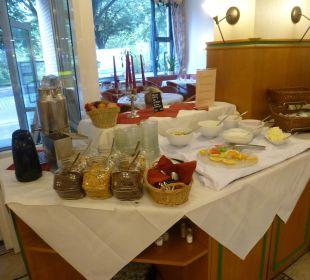 Sehr spartanisches Frühstück Comfort Hotel Weißensee
